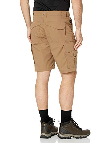 TRU-SPEC Men's 24-7 Polyester Cotton Rip Stop 9-Inch Shorts, Coyote, 32-Inch