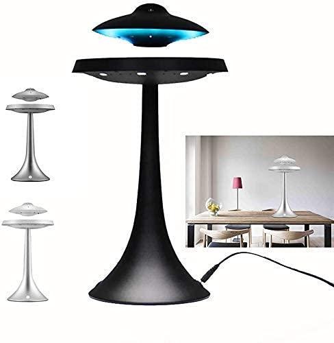 Lámpara Maglev, remitentes Globo flotante con luces LED Maglev Gloating Gloating World Mapa para la decoración de la mesa, Gray Yynha (Color: Negro) Cascada mei (Color : Black)