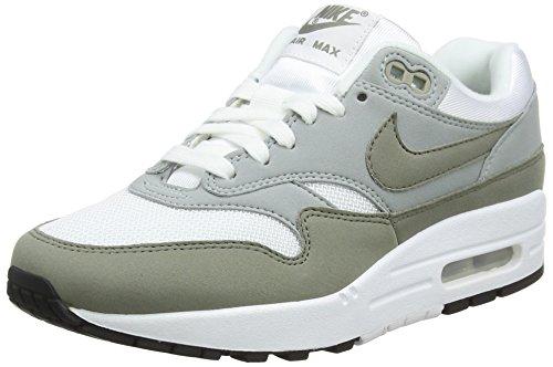 Nike WMNS Air Max 1, Chaussures de Gymnastique Femme, Beige (Whitedark Stucco Li G H T Pumiceblack 105), 44.5 EU