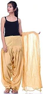 MT Patiyala Golden Booti Cotton Patiyala Salwar With Plain Dupatta for Womens