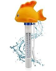 Aiglam Termómetro para Piscina, Temperatura del Agua termómetros con Cuerda, Resistente, para Todo Uso en Piscina spas, Jacuzzis, Acuarios y Peces estanques