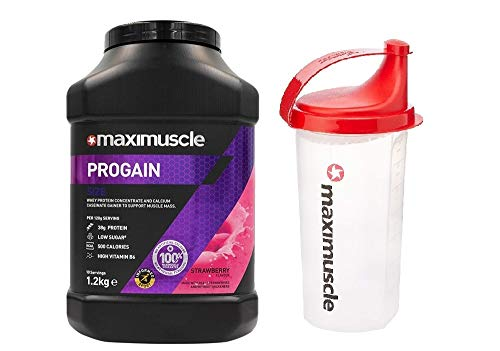 Maximuscle Progain - 1.2kg - Strawberry with Shaker