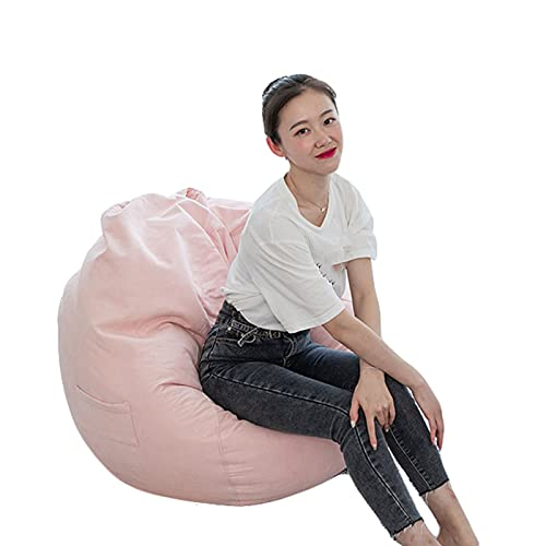 Bean Bag Chair Cover for Kids and Adults (No Filler) Soft Stuffable Zipper Storage Beanbag Durable Double Stitch Construction Machine Was for Children adult