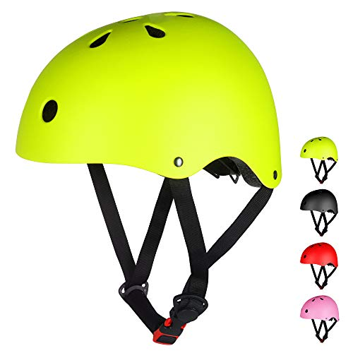 LAMONKE ヘルメット 子供 大人兼用 自転車ヘルメット スポーツヘルメット スケートボード アイススケート サイクリング 通学 スキー バイク 保護用ヘルメット 軽量 通気性 サイズ調整可能 子供ヘルメット 幼児 小学生 (S(50〜54cm), グ