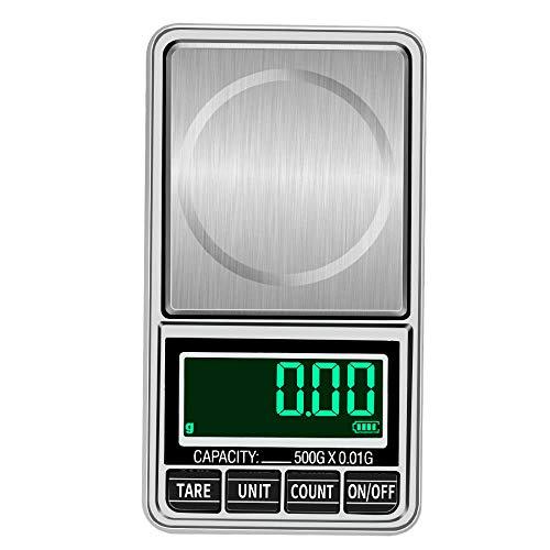 100g / 200g / 300g / 500g 0,01g Mini balanzas digitales de bolsillo balanzas de joyería balanza electrónica de precisión balanza digital 200g 0,01g