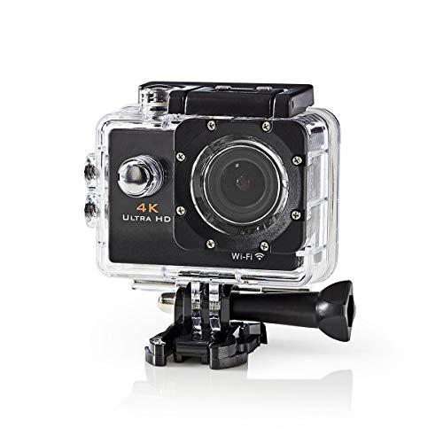 Nedis - Actie Camera - Ultra HD 4K beeldkwaliteit - Veelzijdige Action Cam - Waterproof Case - WiFi - WiFi - 16 Mpixels - Zwart