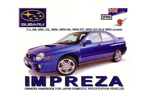 Subaru Impreza 1998-2002 Owners Handbook