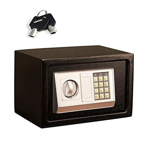 Caja Fuerte ElectróNica, Pequeña y Exquisita, Sistema de Alarma Dual Antirrobo Totalmente de Acero Caja Fuerte Digital, Caja Fuerte Para el Hogar FáCil de Operar, se Aplica A La Oficina O El Hogar