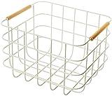 TEPET Una Cesta organizadora de Almacenamiento de Alambre de Metal con Asas, Cesta de Almacenamiento de detergentes para Juguetes de Frutas, para armarios de Cocina, despensa, baño,