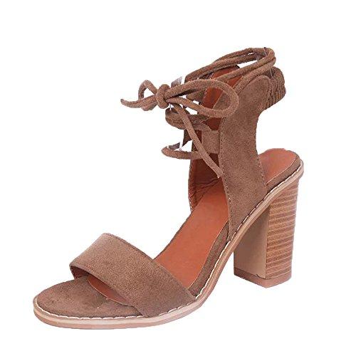 Damen Sommer Sandalen, Overmal Frühlings Mode Riemen Sandalen Damen Pumps High Heels Schuhe Elegant Böhmen Damen Schuhe mit Hohen Absätzen Plattform Keile Schuhe...