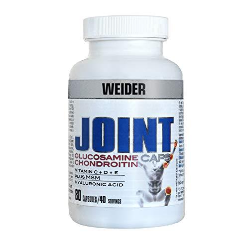 Weider Joint Caps. Protección articular. Contiene Vitaminas E, D, C y Ácido Hilaurónico (80 Cápsulas)