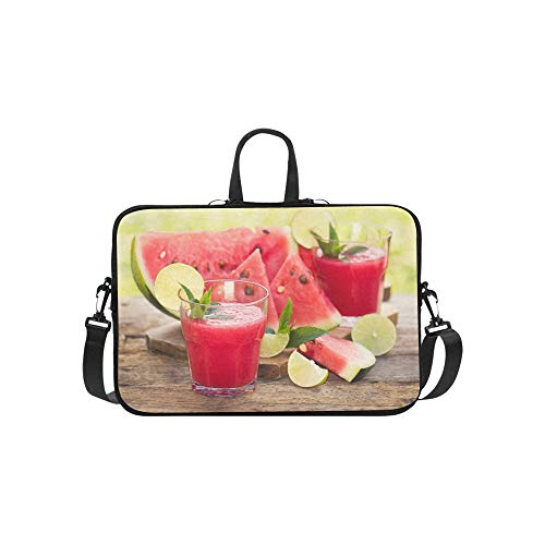 Affordable Laptop Bag Red Delicious Watermelon Juice Shoulder Bag Crossbody Bag Double Zipper for Me...