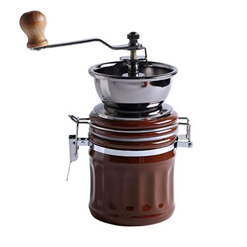 IYAN-COFFEE Handgekurbelte Keramische Kaffeemühle, Keramischer Schleifkern Der Haushalts-manuellen Schleifer-Porzellan-Pulver-Maschinen