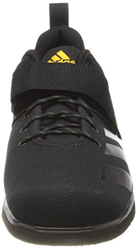 adidas Powerlift 4, Sneaker Hombre, Core Black/Core Black/Solar Gold, 41 1/3 EU