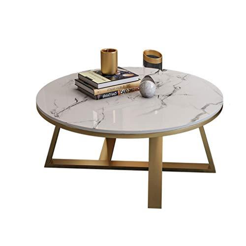 liushop Tavolini da caffè per Soggiorno Tavolino da caffè in Marmo Semplice Moderno Nordico Piccolo Appartamento Soggiorno Rotondo tavolino tavolino tavolino in Bianco e Nero Oro Tavolino da Salotto