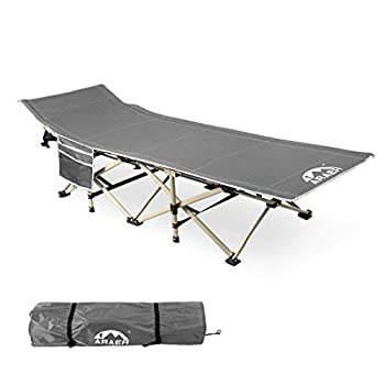 Camping Cot 450LBS Max Load  Portable Folding Outdoor Bed with Carry Bag for Adults Kids Heavy Duty Cot for Traveling Gear Supplier Office Nap Beach Vocation and Home Lounging