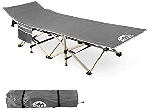Camping Cot, 450LBS(Max Load), Portable Folding Outdoor Bed with Carry Bag for Adults Kids, Heavy Duty Cot for Traveling Gear Supplier, Office Nap, Beach Vocation and Home Lounging