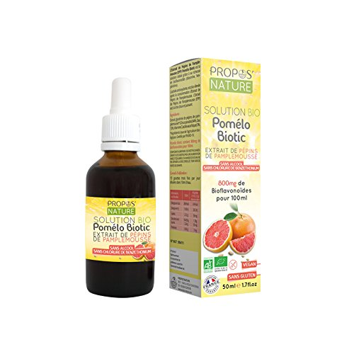 Propos Nature - Pomélo Biotic 800Mg- Extrait De Pépins De Pamplemousse (Certifié Ab) - Contenance : 50 ml