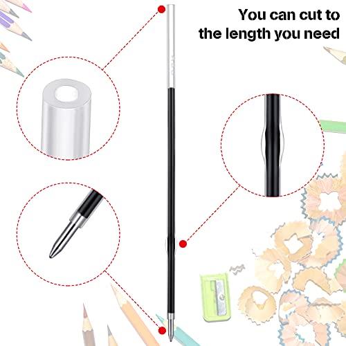Sepamoon Retractable Pen Refills 0.7mm Ballpoint Pen Refills Replacement Gel Ink Refills Blue and Black Ink Refills for Retractable Pens, Office School Supplies (60) Photo #2