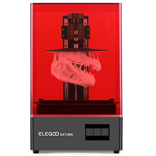 ELEGOO Saturn Impresora 3D de Fotocurado LCD UV con Fuente de luz LED de Matriz UV, Impresión Fuera de Línea o LAN, Impresión Fuera de Línea, Tamaño de Impresión 192 x 120 x 200 mm