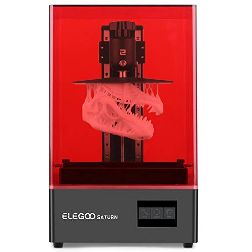 ELEGOO Saturn 3D Printer UV Photocuring LCD 3D Printer with Matrix UV LED Light Source, Off-Line or LAN Print, Printing Size 7.55in(L) x 4.72in(W) x 7.87in(H)/192 x 120 x 200 mm