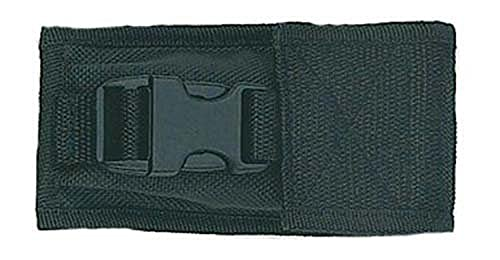 Fury Tac Sheath with Velcro and Clip Folding Pocket Knife Pouch, Tactical Nylon Black, 4 7/8 to 5 .75-Inch