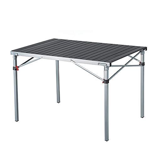 Mesa de aleación de mesa-aluminio de mesa plegable al aire libre con bolso, adecuado para la playa, camping, fiesta de jardín, mesa de picnic, etc.-Tablea resistente a la intemperie y a prueba de niev