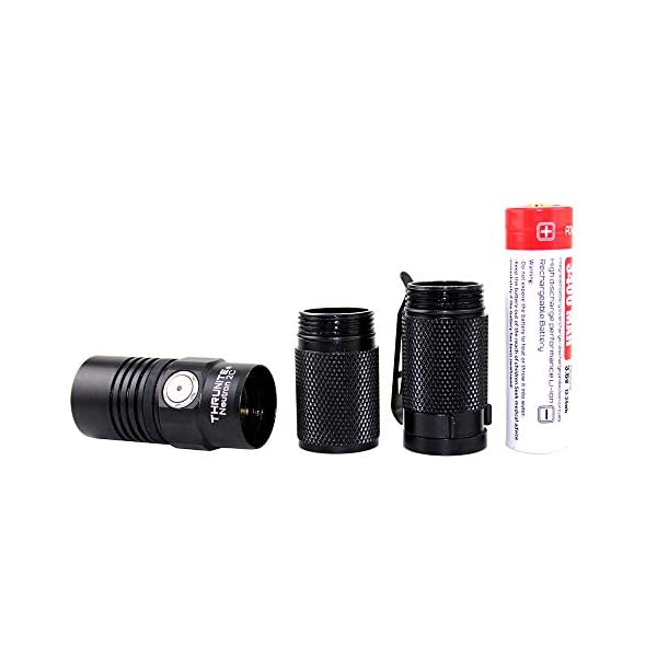 ThruNite Neutron 2C V3 Micro-USB Chargeable LED Flashlight CREE XP-L V6 LED Max 1100 lumens with Firefly, Turbo, Strobe and Self-define Modes Battery Included 4