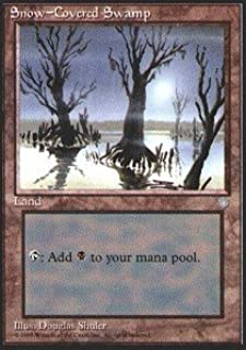 Magic: the Gathering - Snow-Covered Swamp - Ice Age