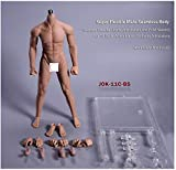 YYSDH Mannequin Steel Skeleton Male 1/6 Scale Sexy Body Muscle Man Super Flexible Seamless with Metal Skeleton for HT Very Cool Tbleague Hottoy Phicen,Brown