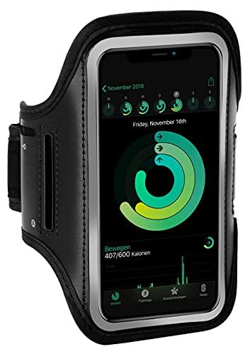 ONEFLOW Brazalete deportivo para teléfono móvil compatible con Samsung Galaxy A10, brazalete de fitness, brazalete deportivo para correr al aire libre, funda para teléfono móvil, color azul