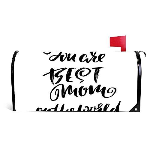 wendana U bent Beste Moeder In De Wereld Moderne Droog Borstel Postbus Cover Magnetische Vinyl Thuis Tuin Decor Postbus Wrap Post Brievenbus Cover 18