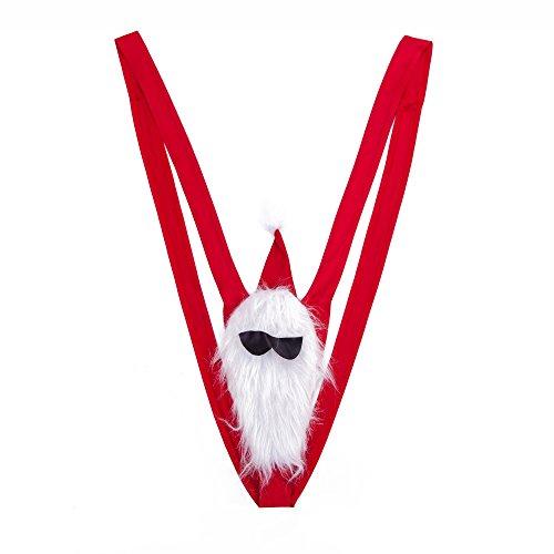 BFD One Reindeer Mankini viele Farben Herren Badeanzug Borat Tanga Dress Up Junggesellenabschied Secret Santa Mankini (Grün) (Rosa) Gr. One size, Santa Bart