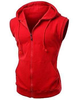 Best red sleeveless hoodie Reviews