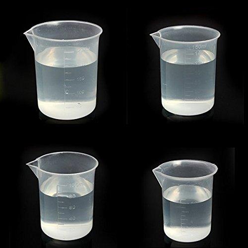 Bluelover Laboratorio cocina prueba plástico vaso taza medidora, plástico, 150m l