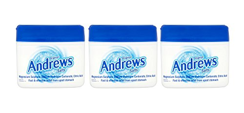 Three Packs of Andrews Original Salts 250 g