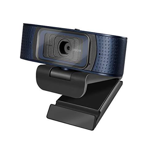 LogiLink UA0379 - Konferenz HD-USB-Webcam Professional, 80° Weitwinkelobjektiv, Dual-Mikrofon mit Rauschunterdrückung, Autofokus, Sichtschutzabdeckung, für Videokonferenzen & Live-Streaming, schwarz