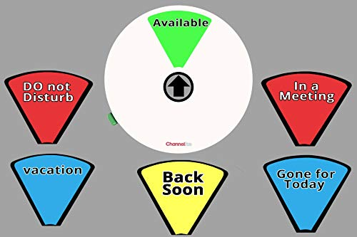 White: 6 OPTIONS Office Privacy sign Do Not Disturb Available Back soon In a meeting Vacation Gone for today office Work from home sign 5 inch