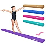 Springee 9ft Balance Beam - Extra Firm - Vinyl Folding Gymnastics Beam for Home - Purple