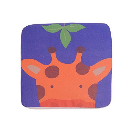 STOBOK Assento Elevatório de Criança Cadeira de Jantar Almofada Crescente Padrão de Veado Assento Infantil para Refeição Portátil Aumentar Almofada 10 Cm