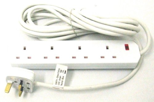 13 Amp UK Fused 3 Broches Blanc Fusible BS1363 B 240 V 3 Pin Power Sockets