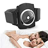 Yinch Infrared Anti Snoring Bracelet Devices Sleep Connection Snore Stopper Wristband Intelligent Snoring Solution Good Sleep Aid Retainer for Men and Women (1 Pack Black)