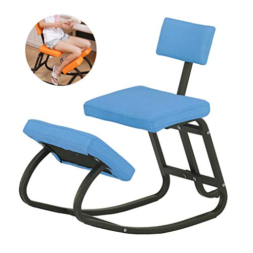 LIfav Ergonomic Kneeling Chair, Relieving Back and Neck Pain Improving Posture, for Home Office Desk Chair, Best Gift,Blue