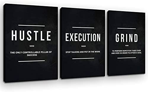 Azrosap Motivational Hustle Posters Prints Inspirational Office Wall Art Grind Canvas Picture product image