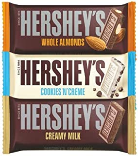 Hershey's Creamy Milk, Whole Almonds & Cookies n Crème Chocolate Bar, 100g (Pack of 3)