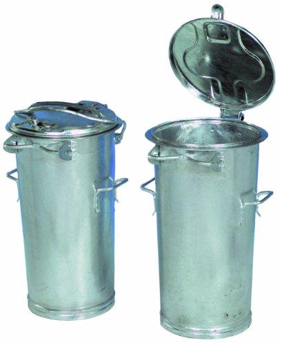 System-Mülleimer, Mülltonne mit Bügel 50L verzinkt