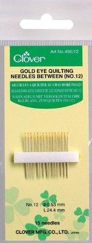 Clover Gold Eye Quilting Between Needles-Size 12 15/Pkg