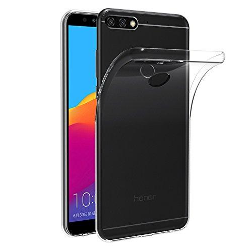 ivoler Hülle Kompatibel für Huawei Honor 7C / Huawei Y7 2018 / Huawei Y7 Prime 2018, Premium Transparent Klare Tasche Schutzhülle Weiche TPU Silikon Gel Handyhülle Schmaler Cover