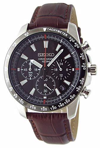 SEIKO クロノグラフ 腕時計 本革ベルトセット 国内セイコー正規流通品 ブラック ブラウン SSB031P1-DB [並行輸入品]