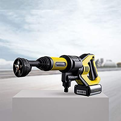 QXMEI Portable Electric High Pressure Cleaner 5-in-1 Nozzle 2 Ways To Connect Water Sources Small Pressure Washer Which For Home Garden, Car Washing Machine,Yellow-OneSize from QXMEI